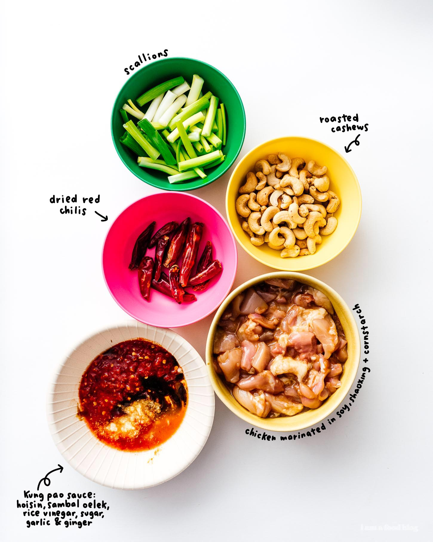kung pao chicken ingredients | www.iamafoodblog.com