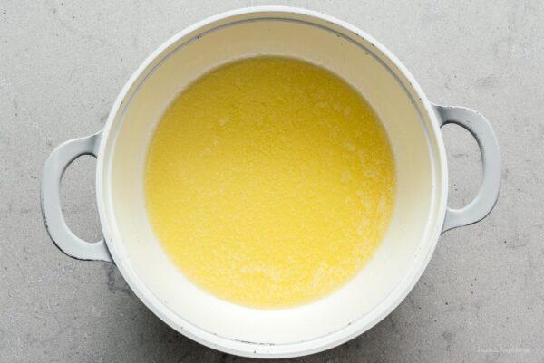 melted butterrice krispie treats | www.iamafoodblog.com