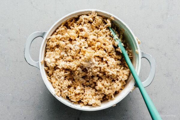 making rice krispie treats | www.iamafoodblog.com
