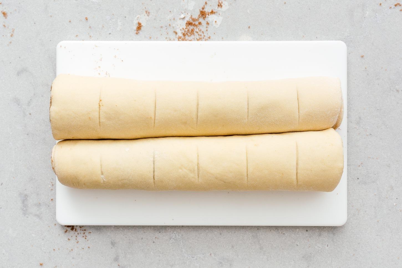 cinnamon rolls ready to cut | www.iamafoodblog.com