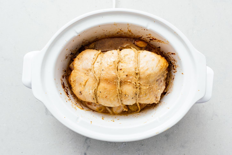 super juicy crockpot turkey breast | www.iamafoodblog.com