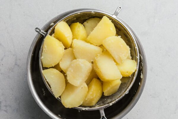 boiled potatoes in colander | www.iamafoodblog.com
