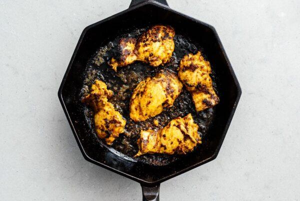 pan grilled shawarma chicken | www.iamafoodblog.com