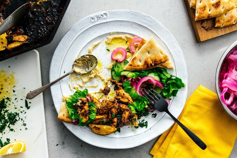 shawarma, eaten | www.iamafoodblog.com