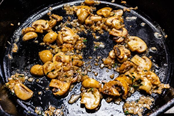 sauteing mushrooms in butter | www.iamafoodblog.com