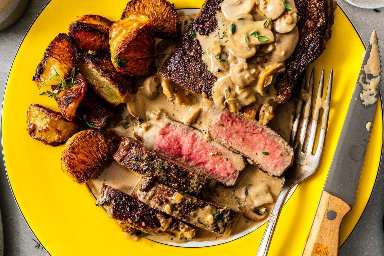 steak done rare | www.iamafoodblog.com