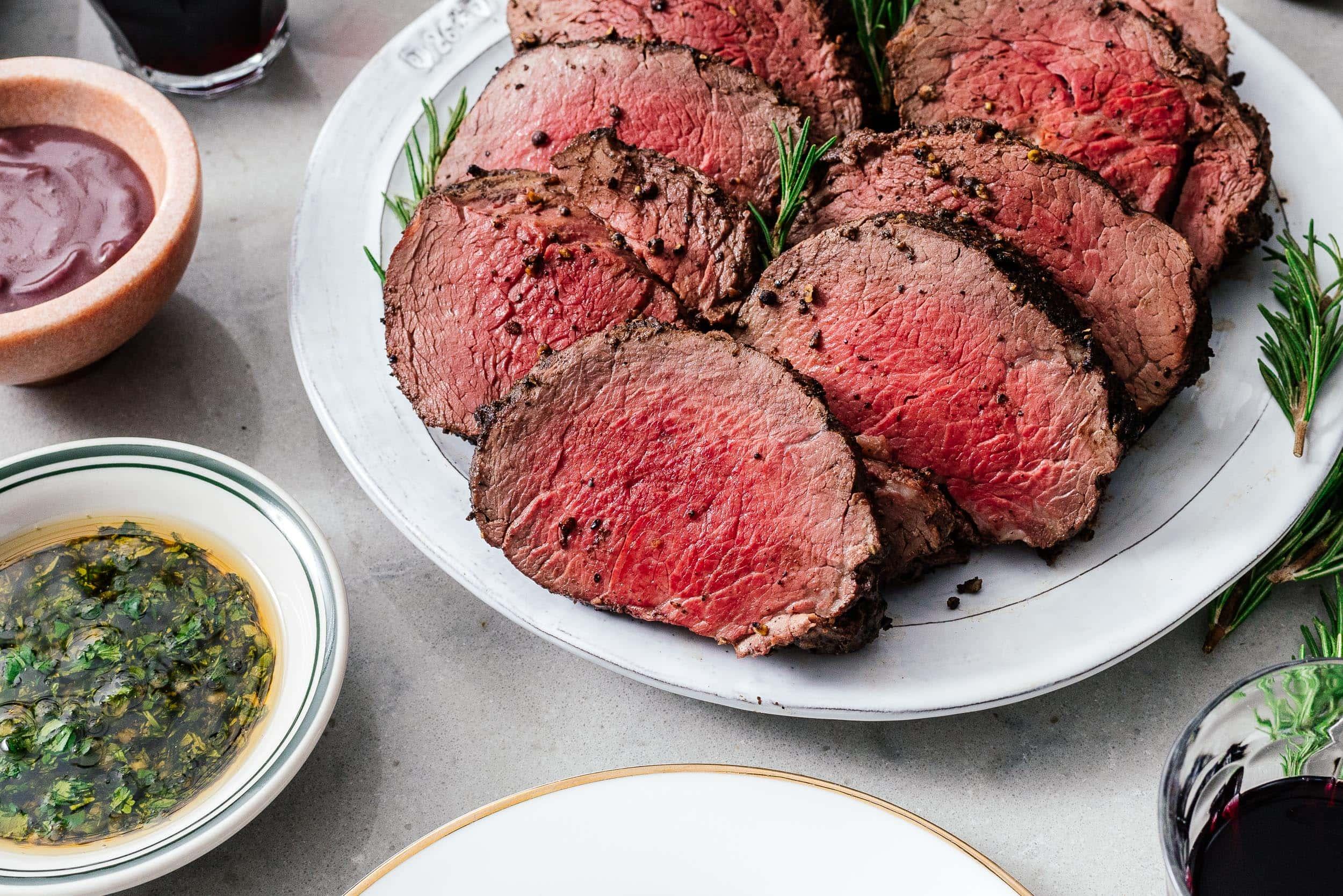 Beef Tenderloin with a Giant Sauce Board | www.iamafoodblog.com