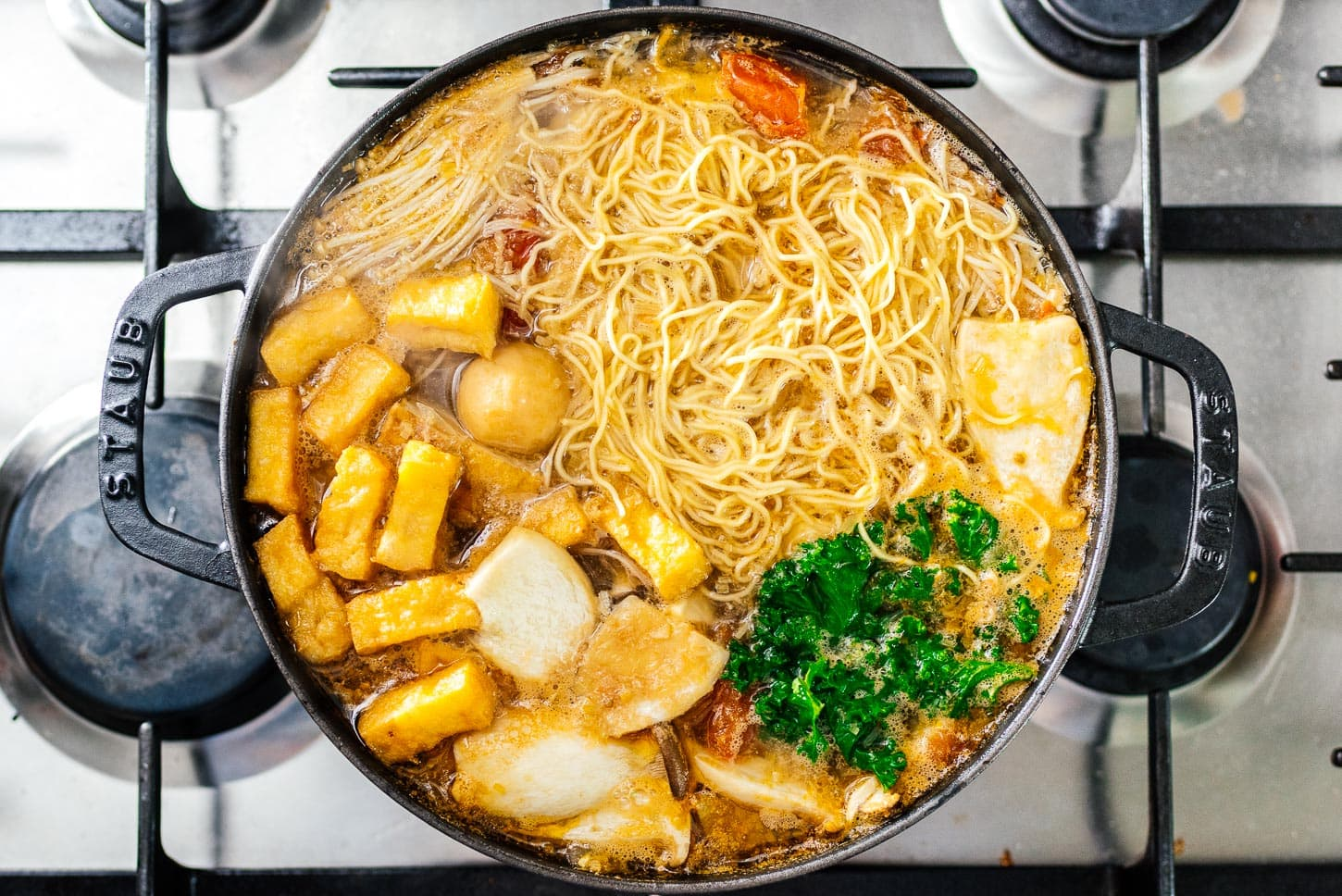 hot pot with noodles | www.iamafoodblog.com