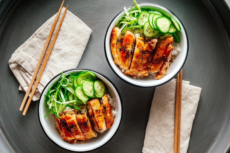 teriyaki chicken bowls   www.iamafoodblog.com