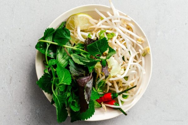 vietnamese herbs and beansprouts | www.iamafoodblog.com