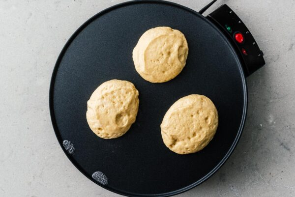 making keto souffle pancakes | www.iamafoodblog.com