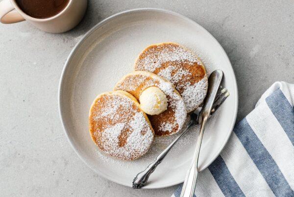keto souffle pancakes | www.iamafoodblog.com
