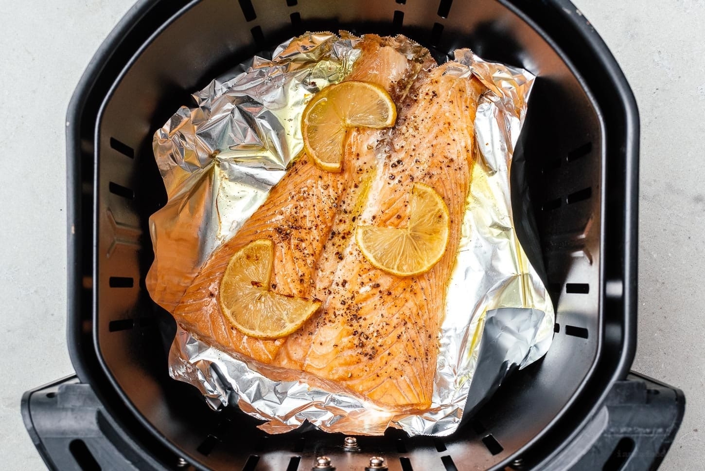 air fried salmon | www.iamafoodblog.com