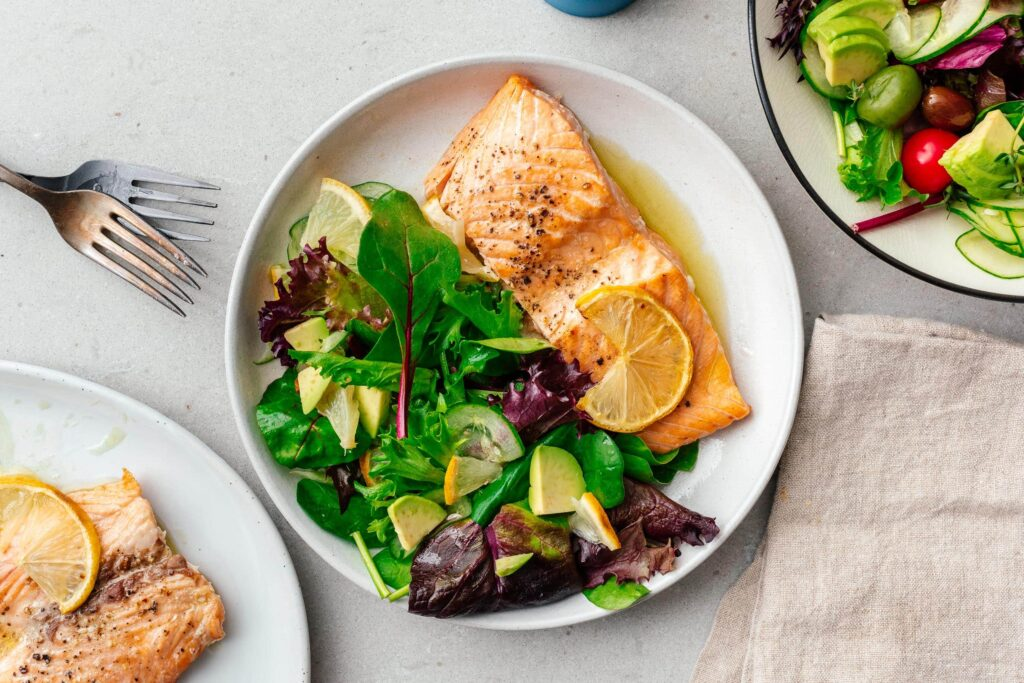 Air Fryer Salmon | www.iamafoodblog.com