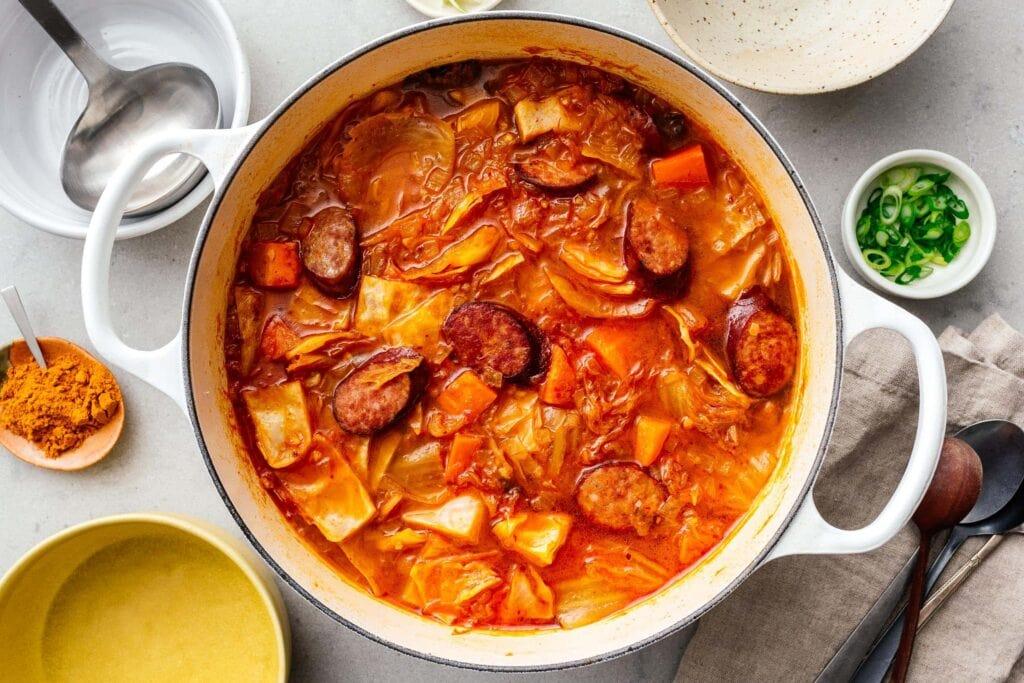 cabbage soup recipe | www.iamafoodblog.com