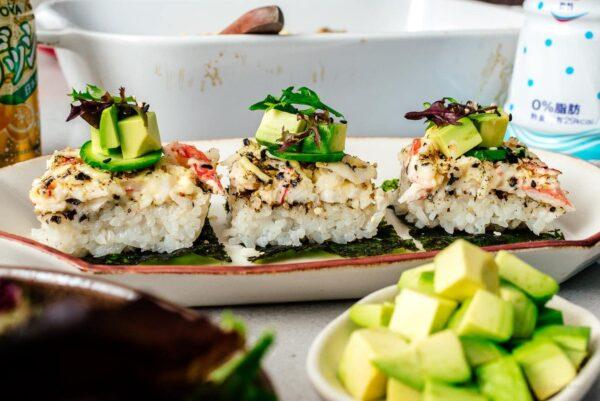 sushi bake | www.iamafoodblog.com