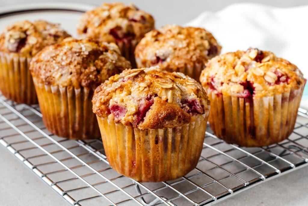 strawberry oatmeal muffins | www.iamafoodblog.com