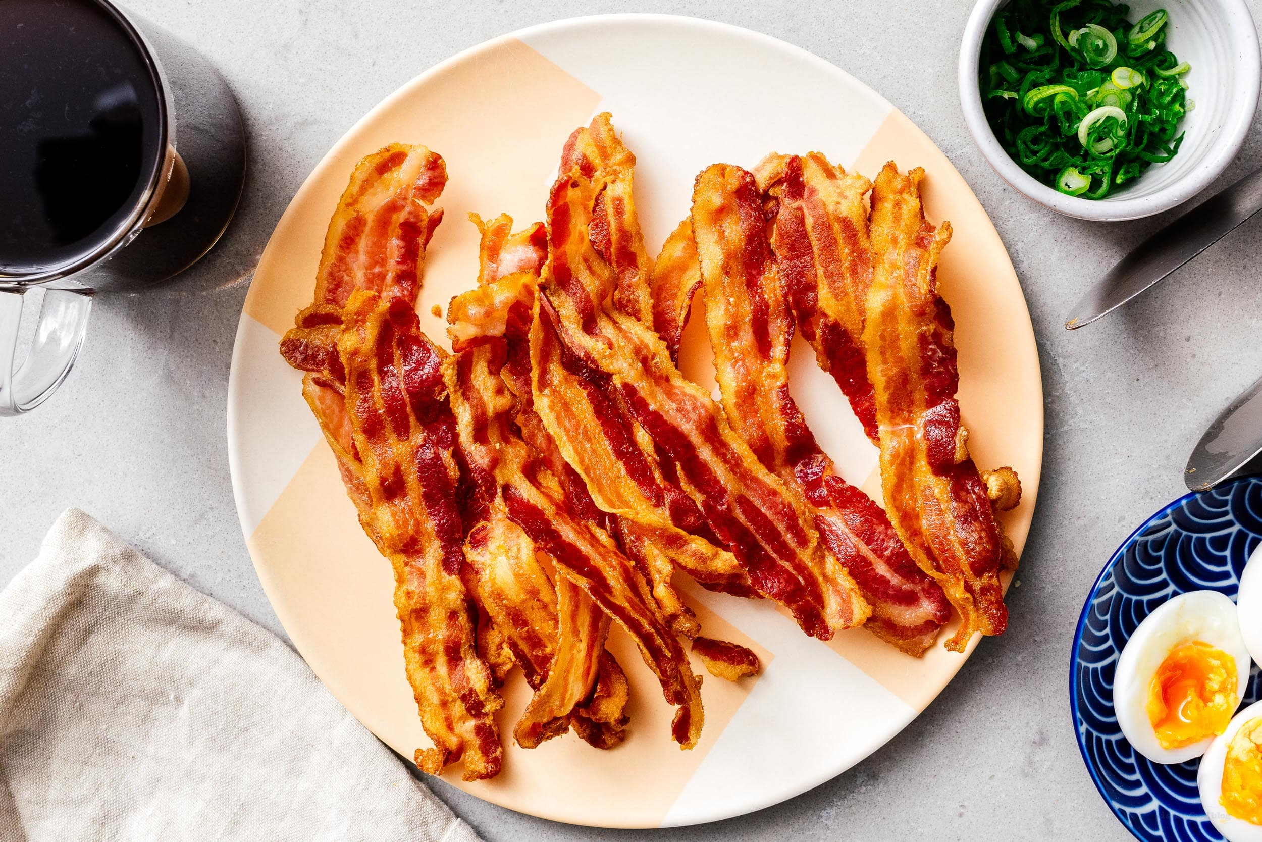 Air Fryer Bacon | www.iamafoodblog.com