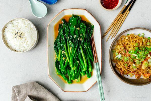 Chinese broccoli aka gai lan | www.iamafoodblog.com