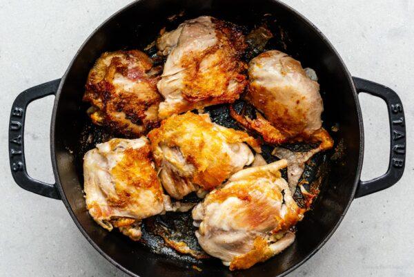 pan searing chicken | www.iamafoodblog.com