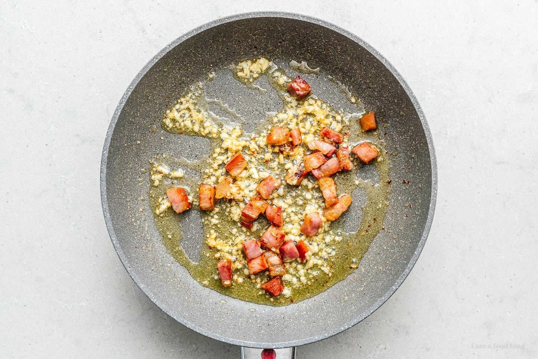 garlic and pancetta | www.iamafoodblog.com