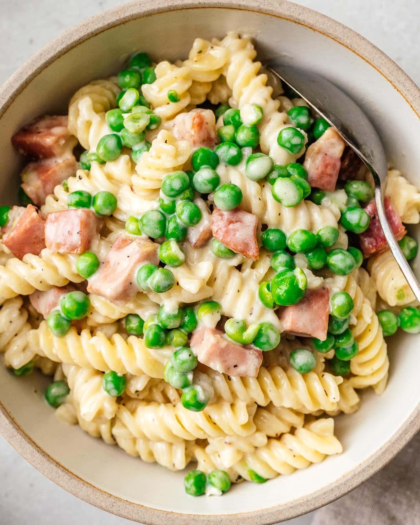 peas pasta | www.iamafoodblog.com