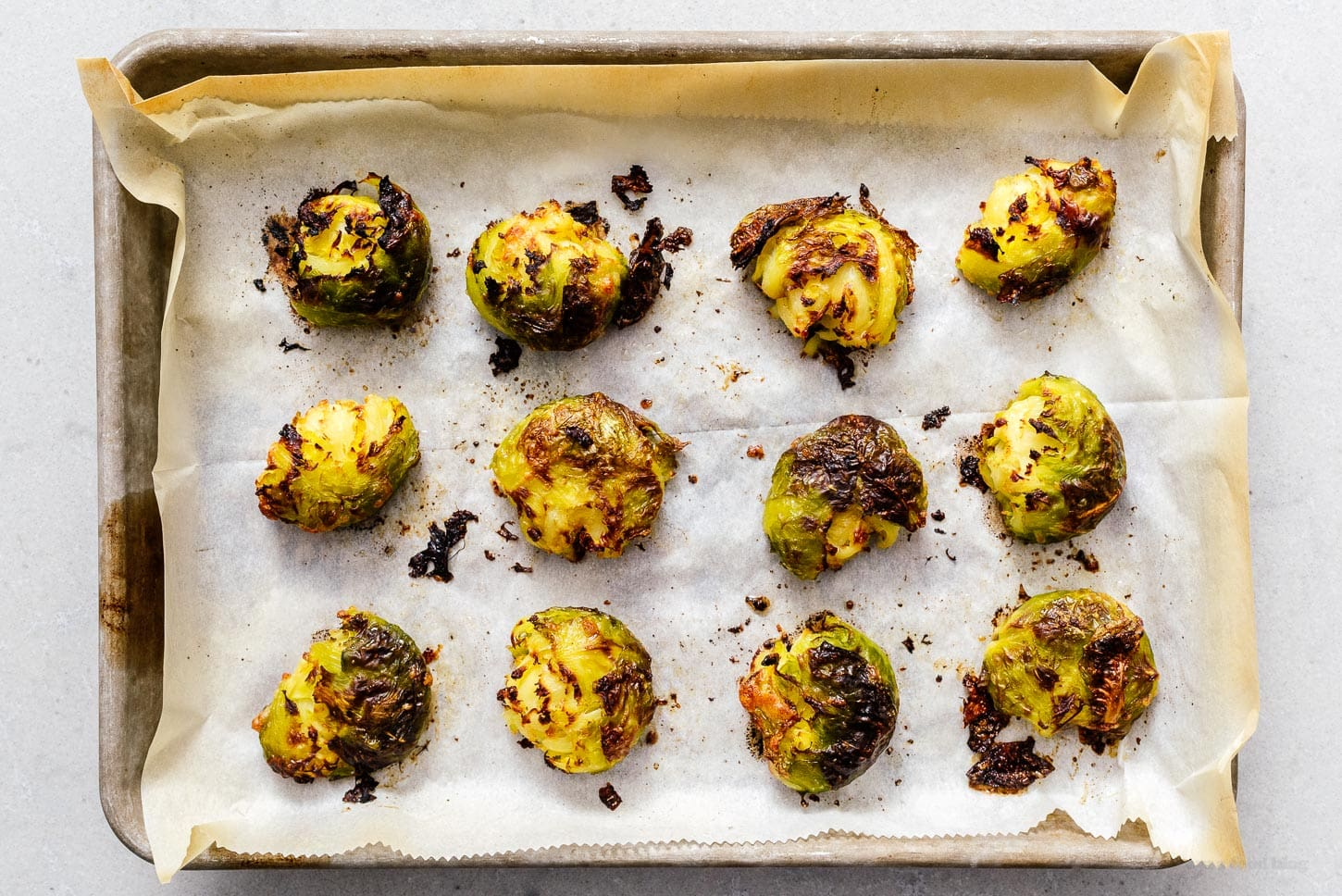 baked smashed sprouts | www.iamafoodblog.com