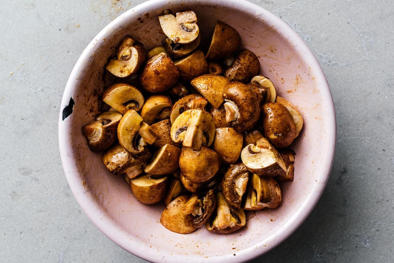 mushrooms in soy sauce and garlic | www.iamafoodblog.com
