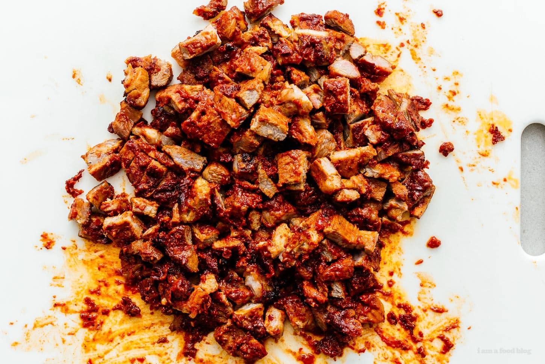 chopped al pastor | www.iamafoodblog.com