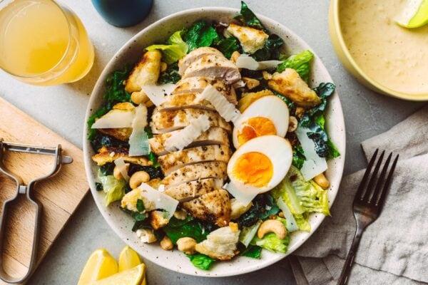 chicken caesar salad recipe | www.iamafoodblog.com